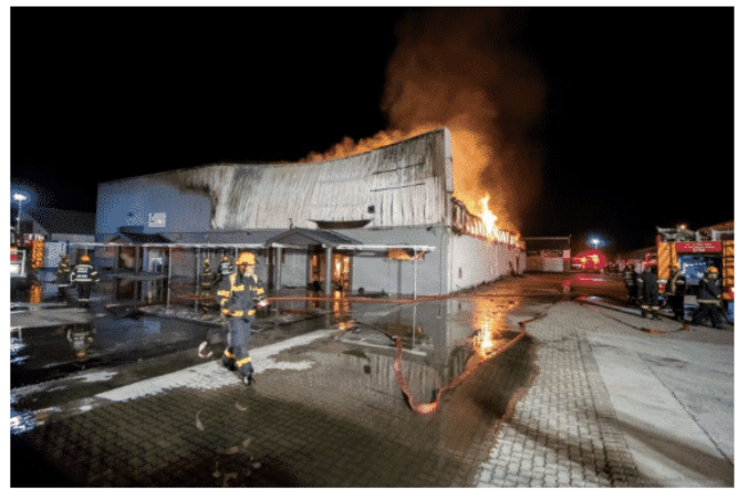 Lalegno South Africa's factory burnt down